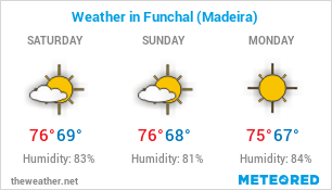 Image with Weather Forecast in Funchal (Portugal) for 3 days