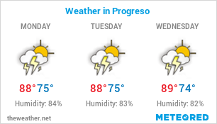 Image with Weather Forecast in Progreso for 3 days
