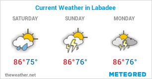 Image with Weather Forecast in Labadee (Haiti) for 3 days